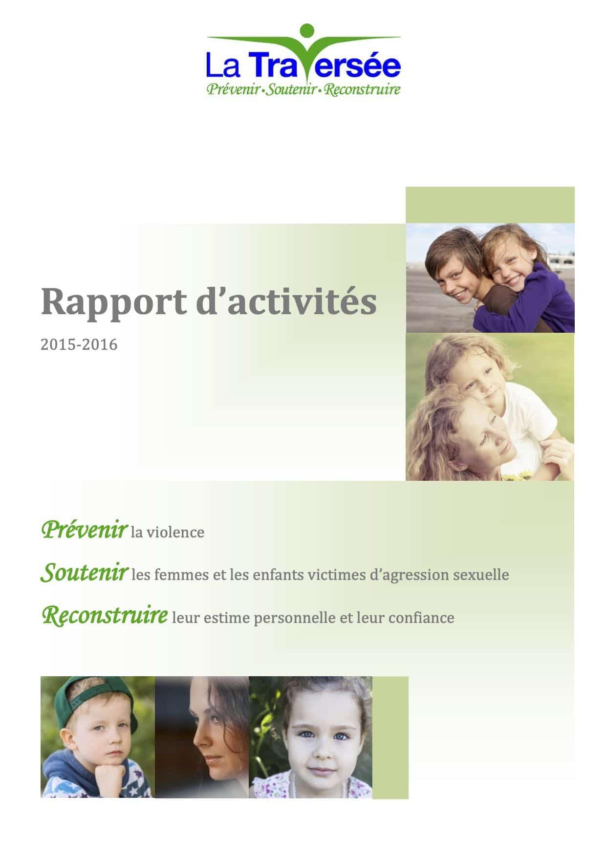 La Traversée - Rapport d'activités 2015-2016